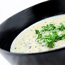 Cauliflower with Blue Vein Cheese soup by LifeisDelicious