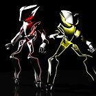 The Neon Robots: Faiz and Kaixa by David Wyatt
