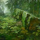 Websters Falls ravine #2 by Guennadi Kalinine