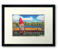 348 - THE GNOME - DAVE EDWARDS - COLOURED PENCILS - 2012 Framed Print