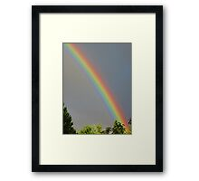Brilliant Bow Beyond the Treetops Framed Print