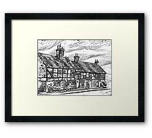 Cottages, English Civil War Period Framed Print