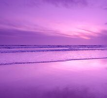 Sunset reflections on Whitsand Bay, Cornwall, UK by Andy Fox