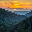 Smoky Mountains Sunset Great Smoky Mountains Gatlinburg TN by Dave Allen