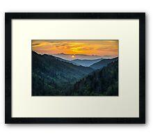 Smoky Mountains Sunset Great Smoky Mountains Gatlinburg TN Framed Print