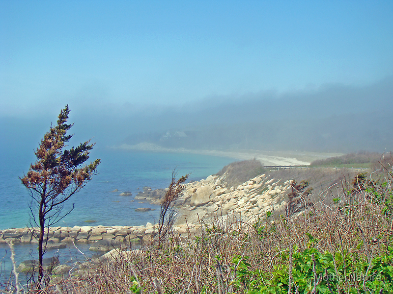 Misty View From Nobska Point - Woods Hole MA by MotherNature