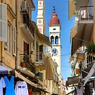 Busy Corfu Lane by Tom Gomez