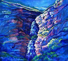 First Light at Bridal Veil Falls by jdbuckleyart