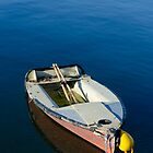 Boat on the Blue Sea by Handy Andy Pandy