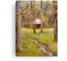 Cades  Cove - Carter Shields Cabin  Canvas Print