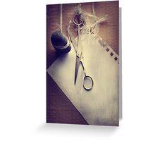 Rock, Paper, Scissors Greeting Card