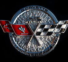 25th Anniversary Corvette Emblem by dlhedberg