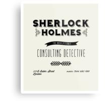 Sherlock Holmes' Business Card Metal Print