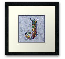 The Letter J Framed Print