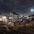Full Moon Show Over Ancient Rome by Marco Romani