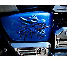 Harley's dragon gas tank Photographic Print