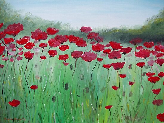 Poppy Field by Monika Howarth