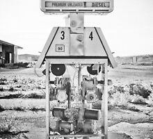 Route 66 Pump 3 & 4 iPhone 4 Case by Warren Paul Harris