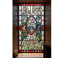 Building, Church, Stained Glass Window Photographic Print