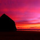 Haystack Rock Sunset by Chris Ferrell