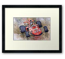 March 711 Ford Ronnie Peterson GP Italia 1971 Framed Print