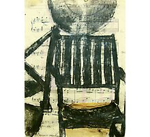 charcoal chair Photographic Print