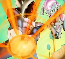 Vegeta vs Frieza by xalwaysondarunx