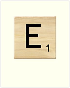 Scrabble Letter E by Scrabbler