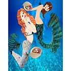 2 mermaids I Phone case  (901 Views) by aldona