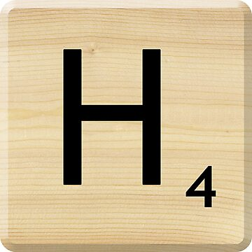Scrabble Letter H by Scrabbler