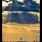 Water Tower Sun Rays iPhone 4 Case by Warren Paul Harris