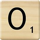 Scrabble Letter O by Scrabbler