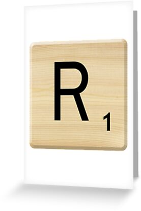 Scrabble Letter R	 by Scrabbler