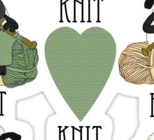 Knit Knit Knit, Knitting fan TShirt Sticker