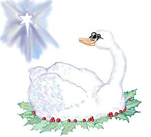 Christmas Swan by redqueenself