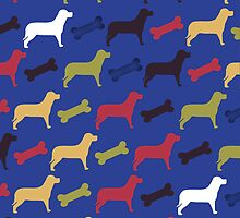 Abstract Pattern Give The Dog A Bone by Moonlake