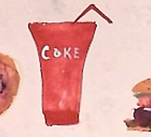 The ultimate American diet,,, watercolor by Anna  Lewis