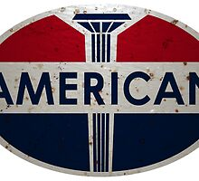American Gas Station sign. Rusted version by htrdesigns
