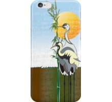 """Cranes"" iPhone Case iPhone Case/Skin"