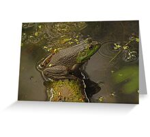 Frog September Greeting Card