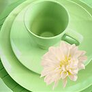 Green Dinnerware for Summer, Delightful! by Yannik Hay
