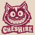 Cheshire Originals - Raspberry Stripe Scribble by CheshireGoMad