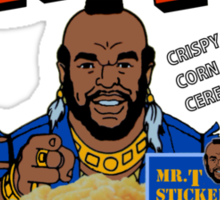 Mr. T - Cereal - T Shirt Sticker