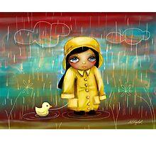 a walk in the rain Photographic Print