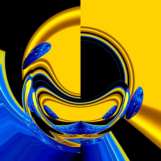 blue & yellow abstract by Wieslaw Jan Syposz