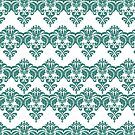 Damask Pattern iPhone Case in Aqua by Moonlake