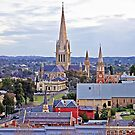 Rooftops and Spires of Bendigo's Beautiful Buildings by TonyCrehan