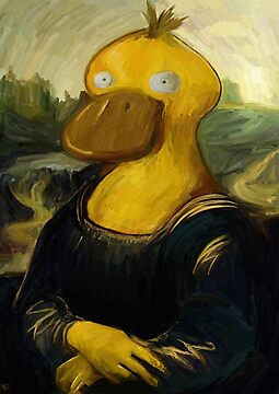 mona psyduck real painting by stevontoast