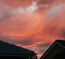 Red Sky Over Suburbia by agentsmith
