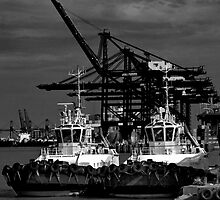 Port Of Felixstowe by Darren Burroughs